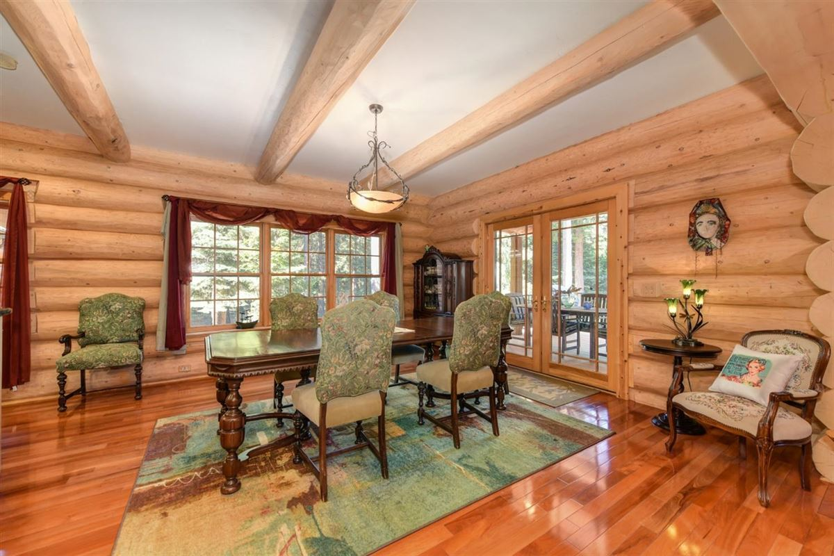 Mansions in Gorgeous Handcrafted Log Home