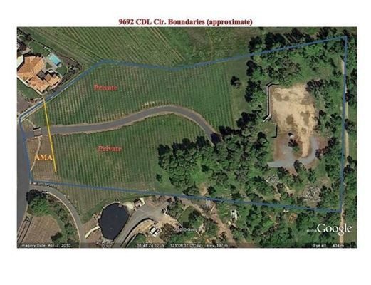 Mansions parcel with a vineyard in loomis