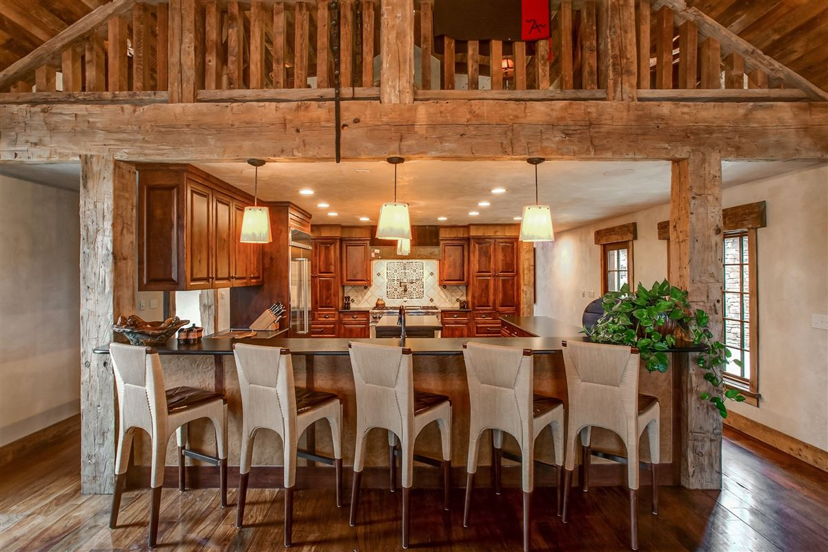 Luxury homes flying a ranch