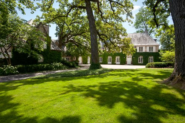 Classic stone French Manor Home luxury homes