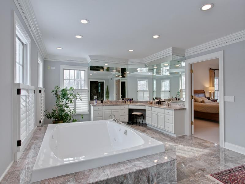 Luxury real estate magnificent setting on beautiful street
