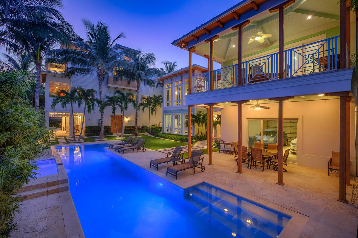 Key West style estate in Lago mar mansions