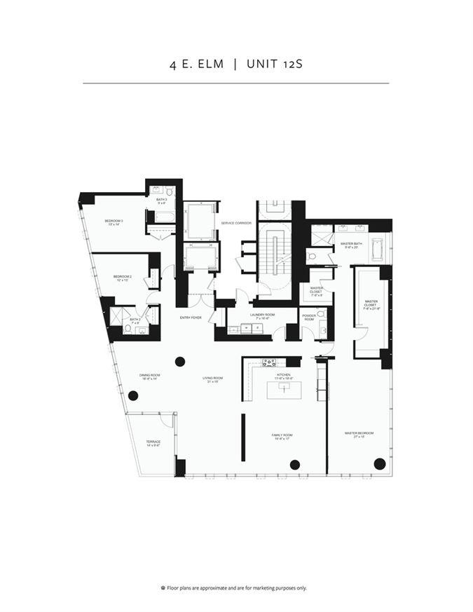 Luxury properties incredible unit in newer luxury building