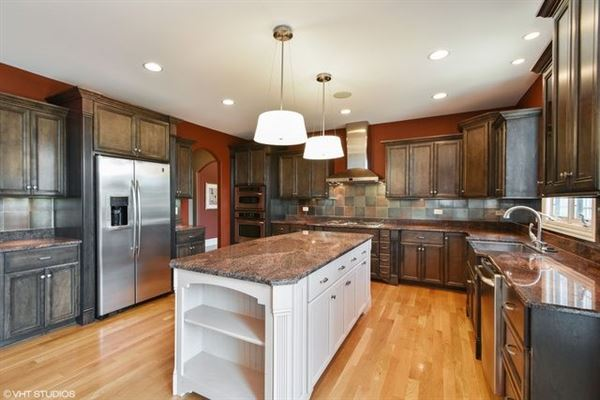 Luxury real estate beautiful custom two-story home in Frankfort