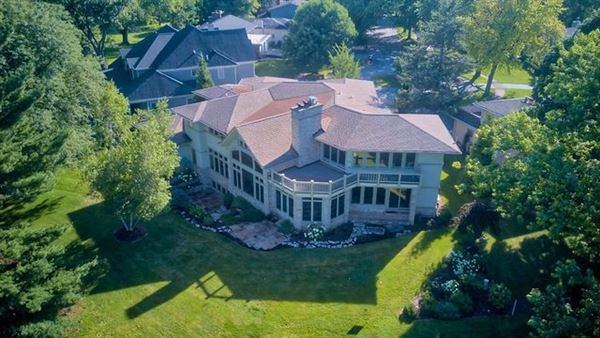 Luxury real estate exceptional prairie style home with sweeping views