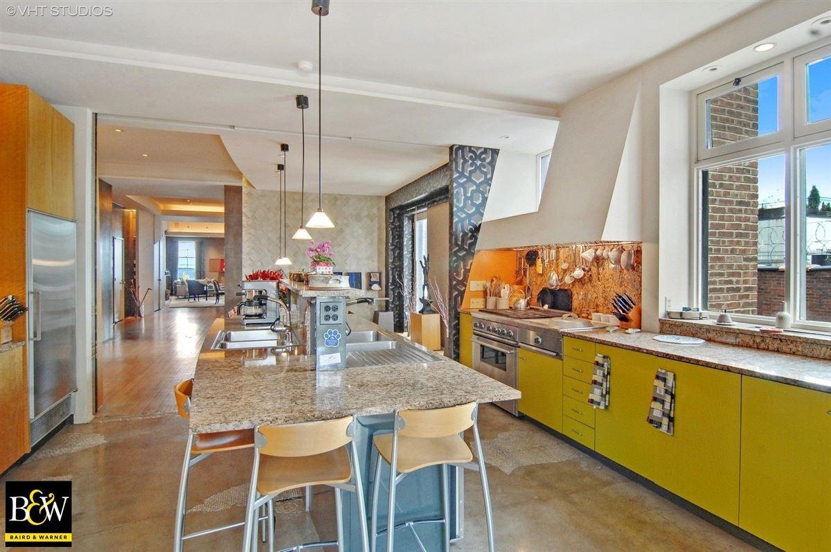 Luxury real estate elegant half floor penthouse residence