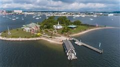 private island located off the coast of Fairhaven luxury real estate