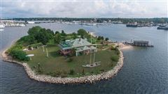 private island located off the coast of Fairhaven luxury properties
