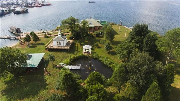 Luxury homes private island located off the coast of Fairhaven