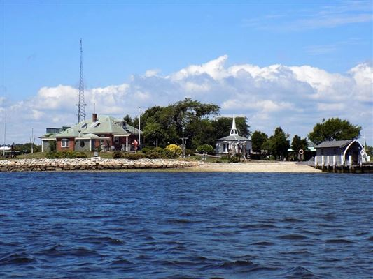 private island located off the coast of Fairhaven luxury homes