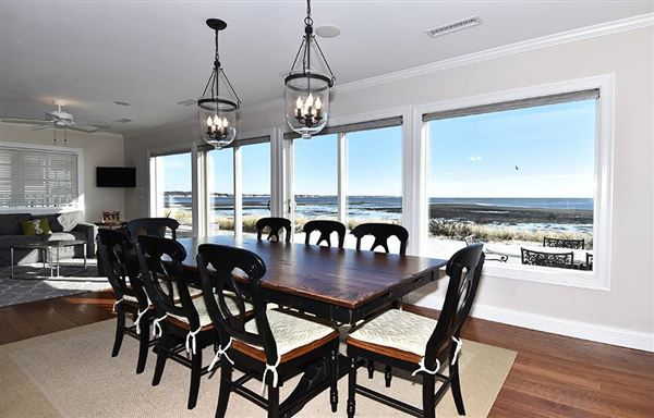 Luxury homes front row position on Long Island Sound