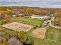 Luxury real estate home and equestrian facility in clinton