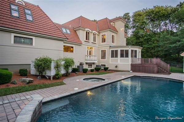 Luxury real estate incredible home includes a jacuzzi, patio, deck, and cabana