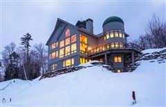 Luxury properties Famous luxurious slopeside silo house
