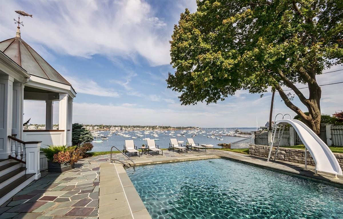 magnificent harbor front estate luxury homes