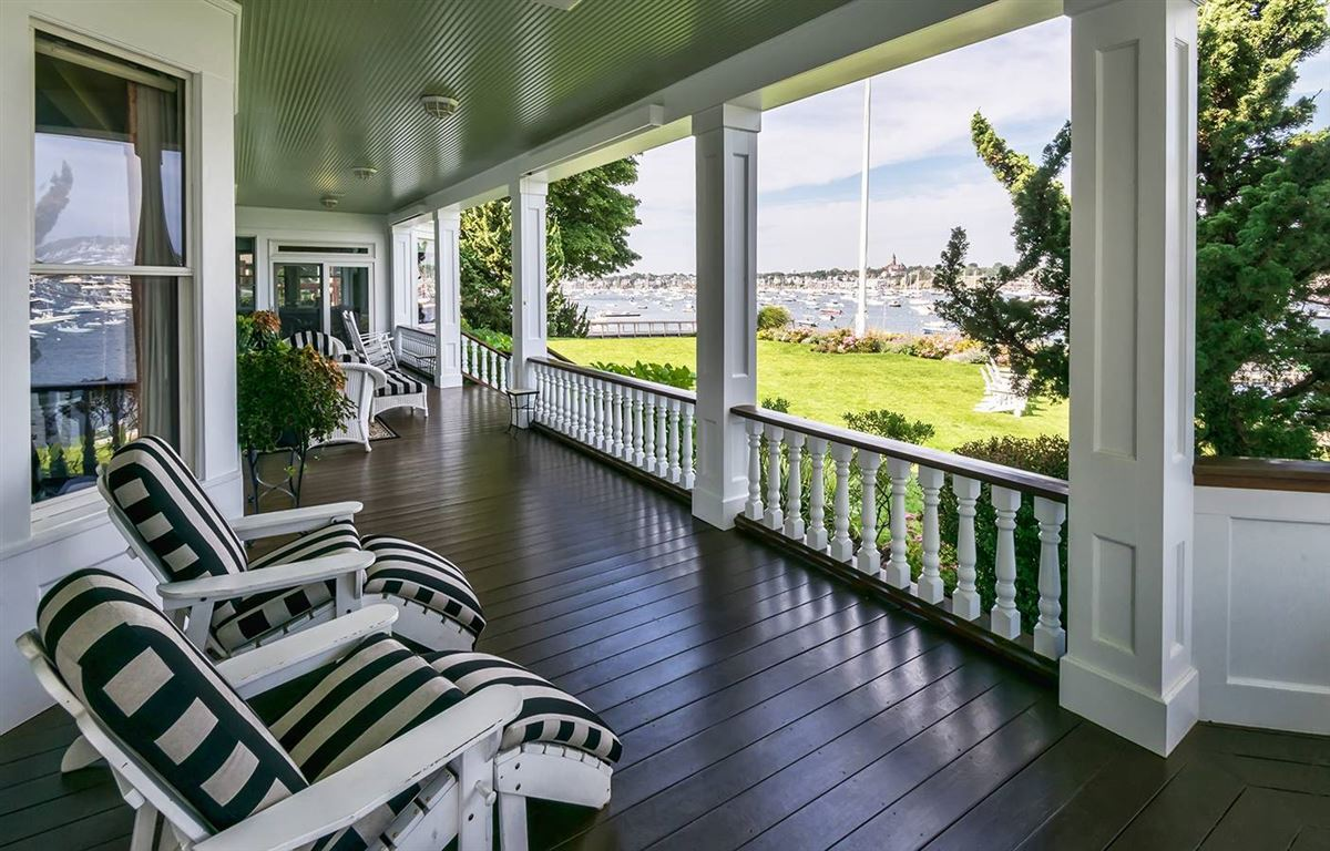 Luxury homes magnificent harbor front estate