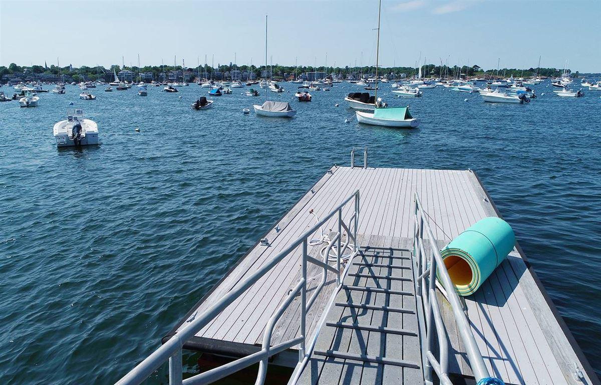 Luxury properties magnificent harbor front estate