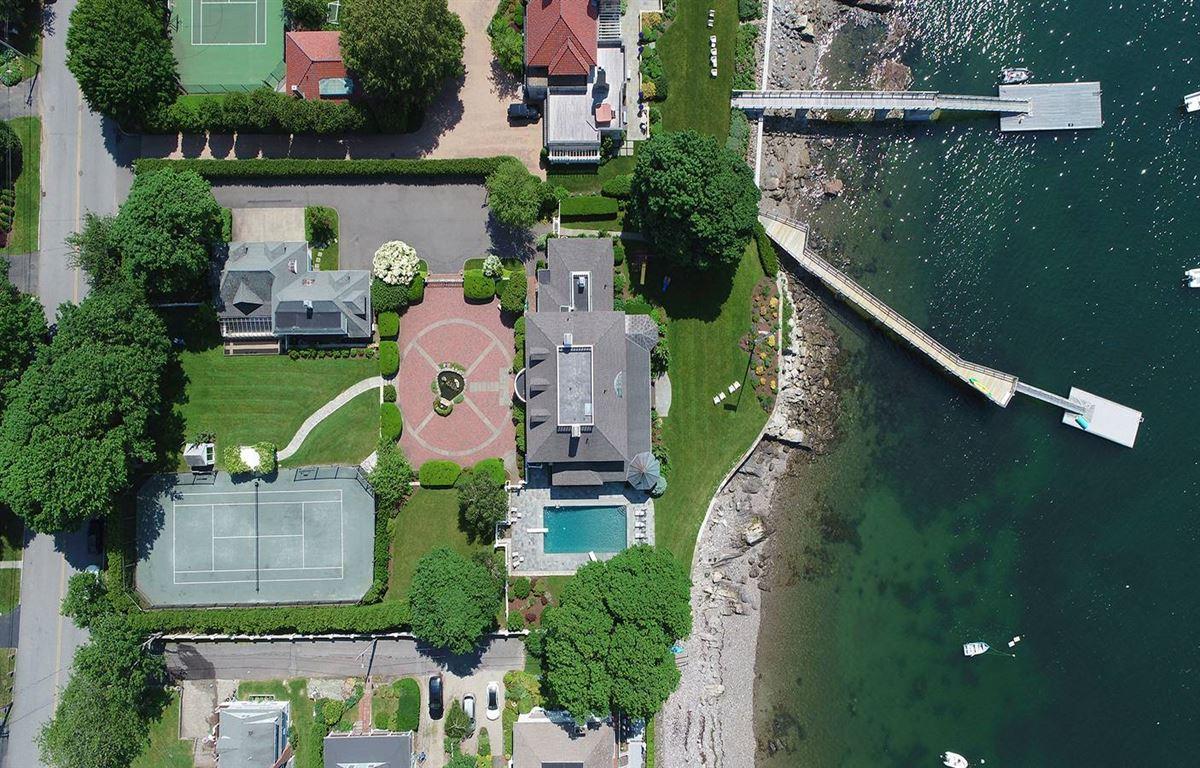 Mansions magnificent harbor front estate