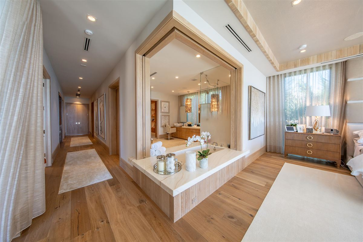 Luxury homes in private gated ocean to Intracoastal estate