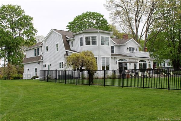 Luxury real estate beautiful Niantic River waterfront home