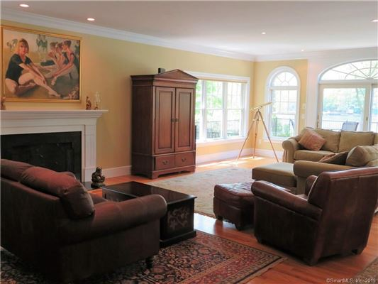 Luxury homes beautiful Niantic River waterfront home