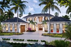 new coastal traditional on Naples Bay luxury real estate