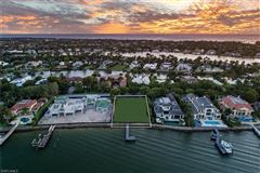 Luxury homes in new coastal traditional on Naples Bay