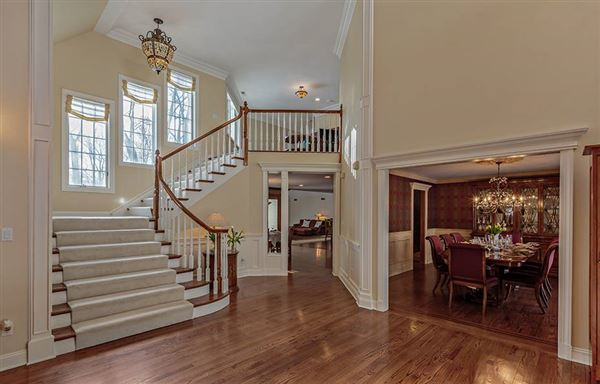 Luxury real estate sophisticated Bedford Corners colonial home