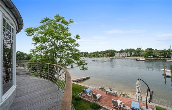 Luxury real estate Direct waterfront home with dock