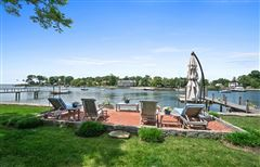 Direct waterfront home with dock luxury properties