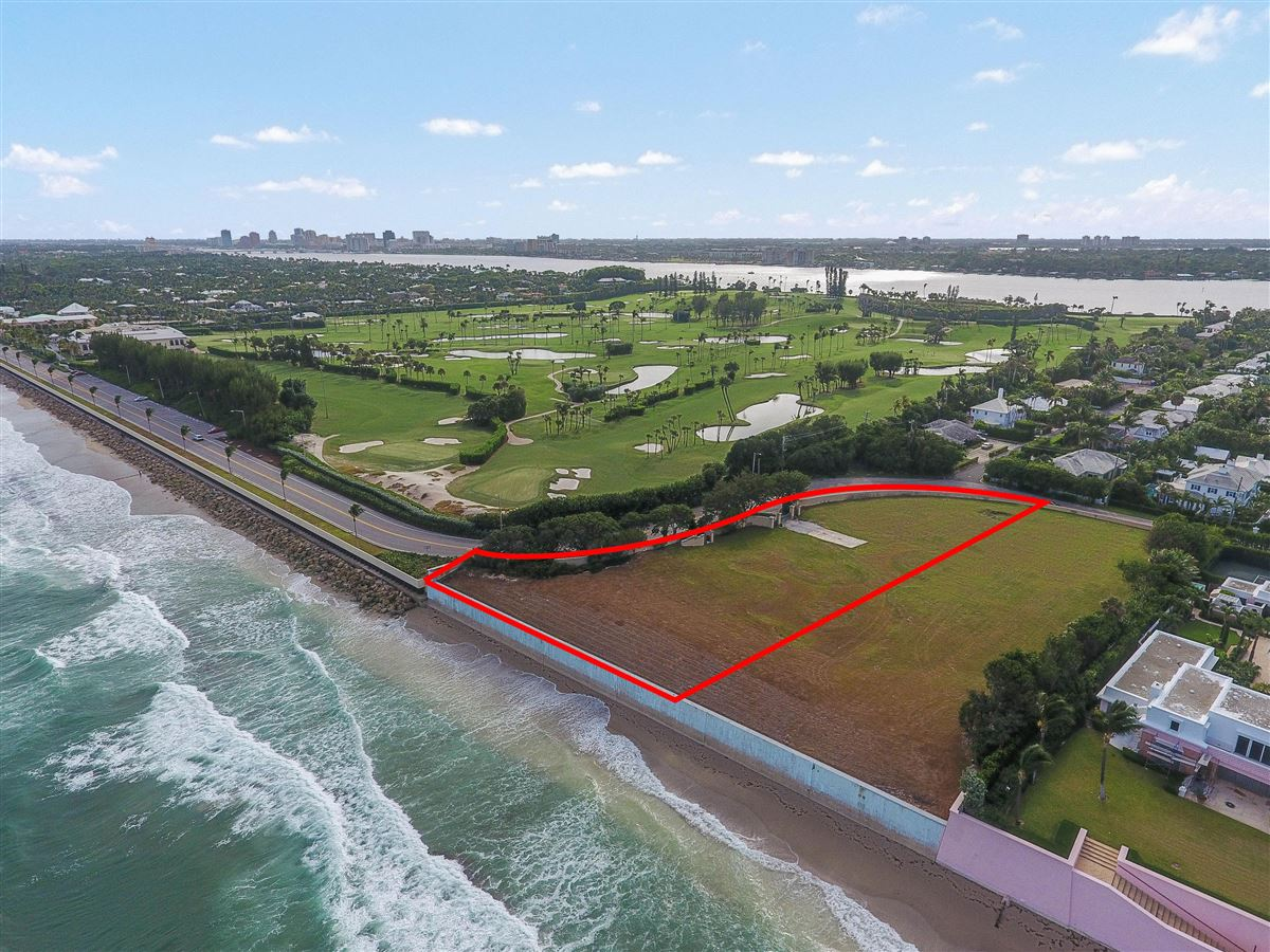 ocean front lot with plans mansions