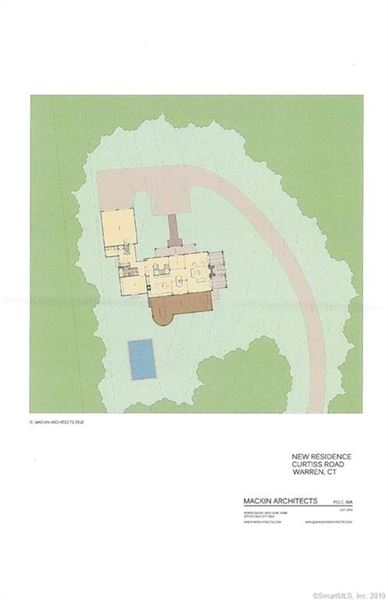 proposed new home high above Lake Waramaug  luxury homes