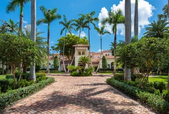 Mansions Waterfront mansion sits on a lush 1.2-acre lot