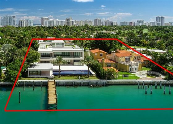 Mansions in The Trophy Mega-Mansion in Miami Beach