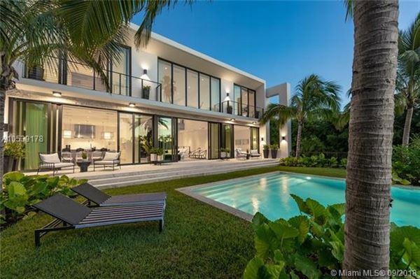 New Gorgeous Modern Home In Miami Beach