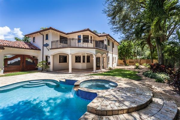 Exquisite Home Includes A Pool With A Waterfall