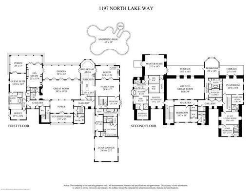 Mansions in impressive lakefront estate
