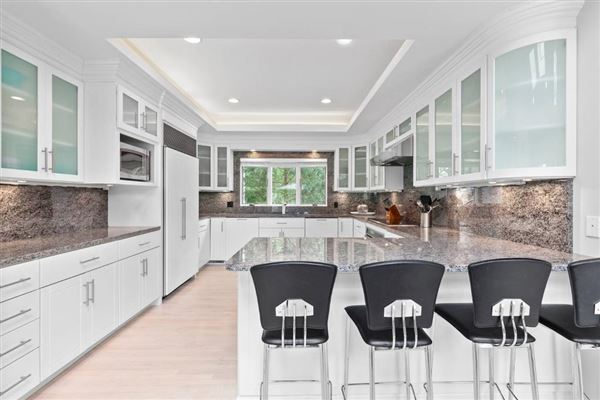 pristine Post Modern home situated in a lovely cul-de-sac luxury homes