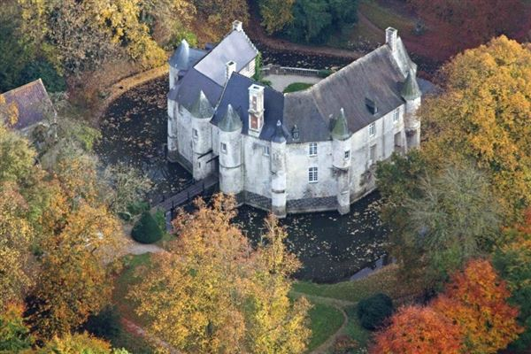 Mansions in remarkable castle