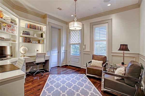 Luxury real estate stately English townhome in houston