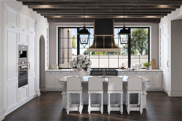 Luxury homes English-inspired manor home