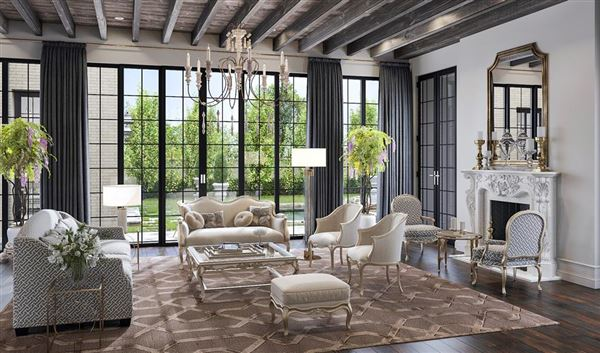 Luxury real estate English-inspired manor home