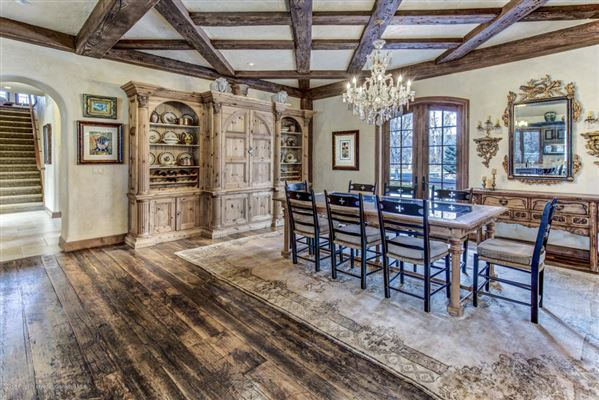 Luxury real estate enchanting chateau on the Roarking Fork River