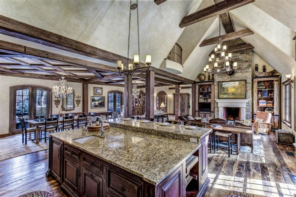 enchanting chateau on the Roarking Fork River luxury real estate