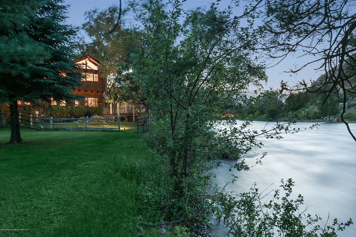 Luxury homes Roaring Fork River Frontage