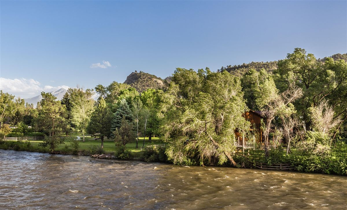Luxury real estate Roaring Fork River Frontage