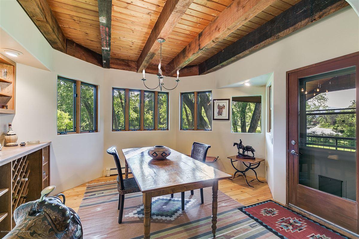 Roaring Fork River Frontage mansions