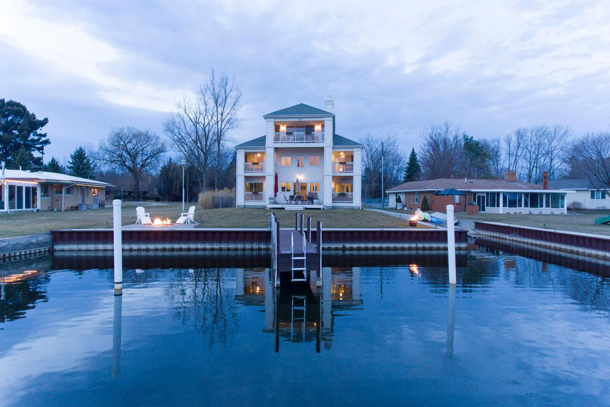 Peaceful Waterfront Home Michigan Luxury Homes