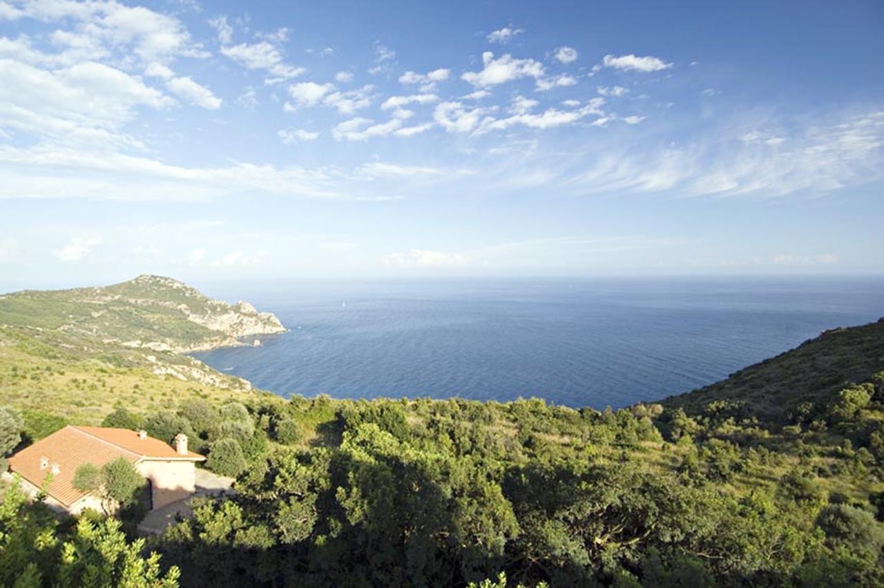Luxury properties Villa with broad garden and pool overlooking the sea in Argentario