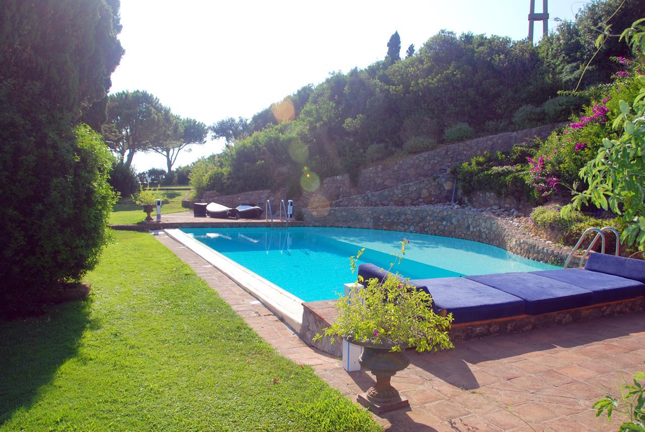 Luxury homes in Villa with broad garden and pool overlooking the sea in Argentario